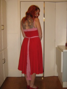 Pink & Red 1950's style sundress