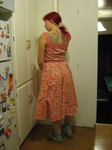 March dress (back)