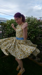 January dress (twirling)