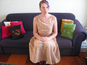 Domestic Goddess dress (seated)