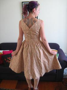 Domestic Goddess dress (back)