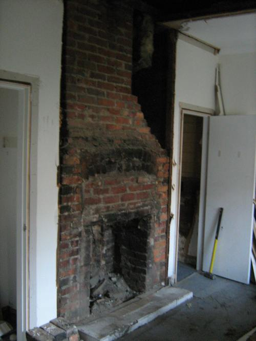 My room - fireplace revealed from behind the wall
