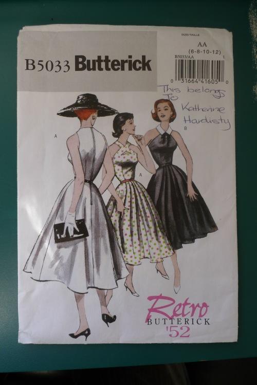 Butterick B5033 pattern