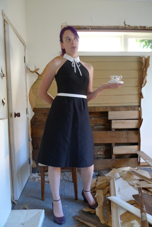 Coco Chanel dress, standing front