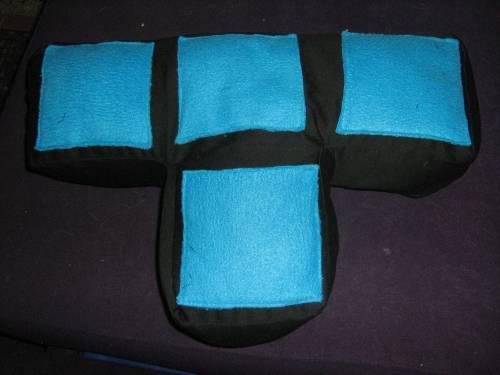 T-shaped Tetris cushion