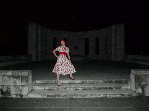 At the Memorial at night