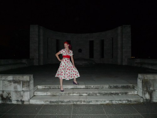 At the Memorial at night