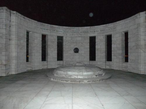 Massey Memorial at night