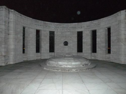 Massey Memorial at night