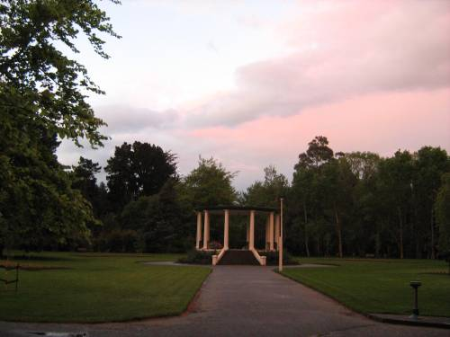 Band rotunda in Queens Gardens at dusk