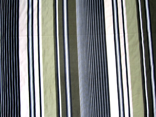 Celery stripe - showing almost the full length of fabric so you can see all the stripe pattern