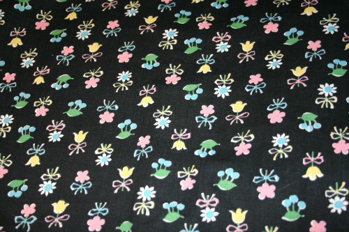1940's cotton print fabric