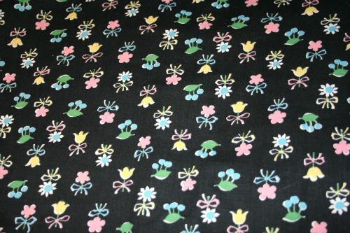 1940's cotton print fabric