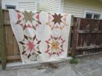 Starburst quilt top