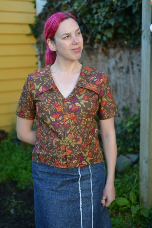 Burda magazine 10/2012 pattern #122 - the Anne blouse