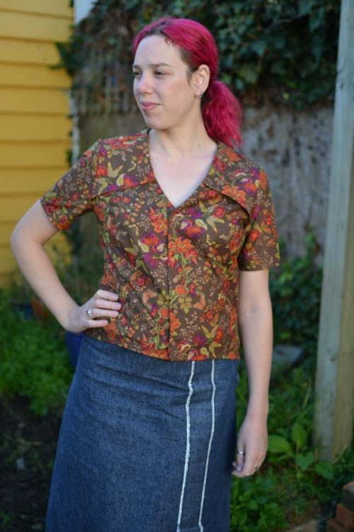 Anne blouse, Burda magazine 10/2012 #122