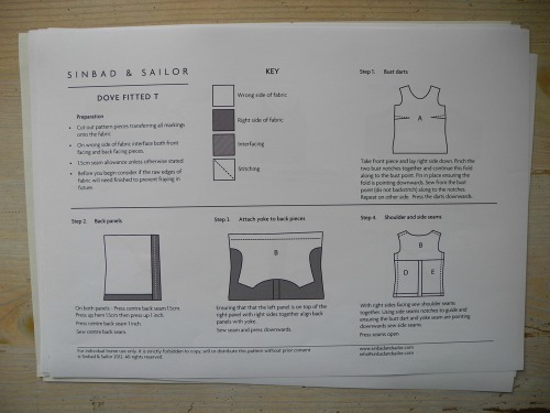 Sinbad and Sailor Dove fitted T instructions