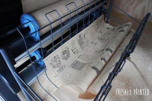 Freshly printed Papercut patterns