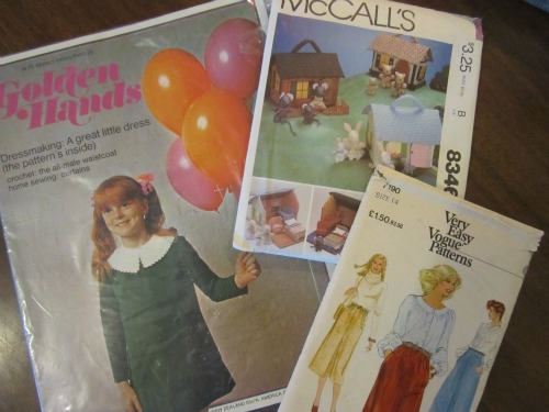 Retro sewing patterns