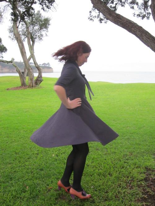 Purple Rain La Sylphide dress by Modern Vintage Cupcakes