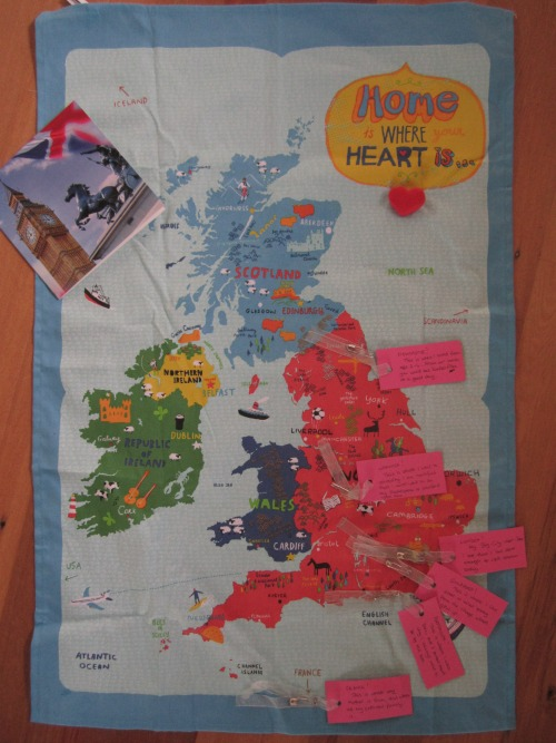 Teatowel with notes