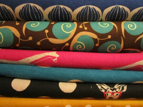 Pile of Japanese fabrics