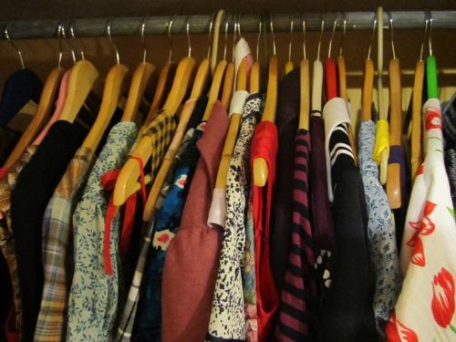 Wardrobe of dresses | Modern Vintage Cupcakes