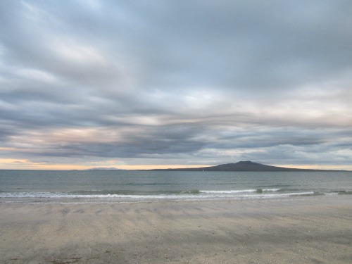 Clouds over Takapuna beach
