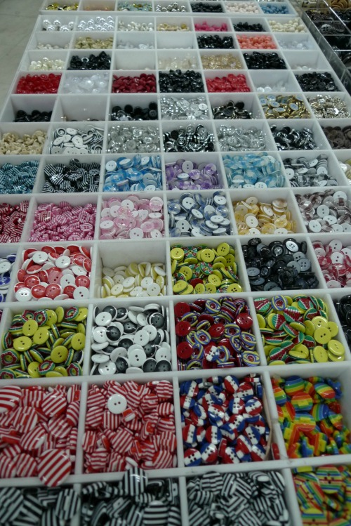 Shanghai notions market - buttons