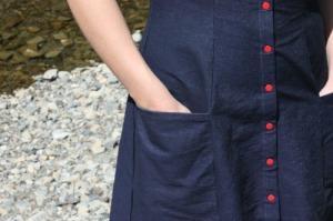 Adding pockets to a princess-seamed dress   Modern Vintage Cupcakes