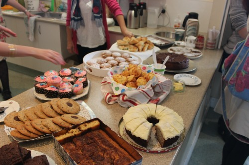 Tasty homemade treats at the 'cafe'.  (Those choc-chip biscuits?  Amazing!!!)