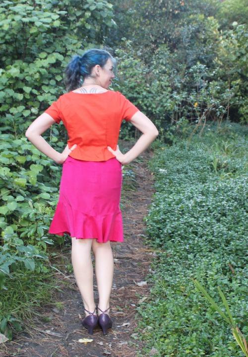 Pink and Orange Joy outfit | Modern Vintage Cupcakes