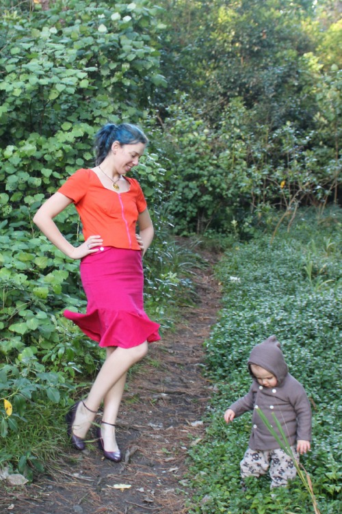 Pink and Orange Joy outfit | Modern Vintage Cupcakes