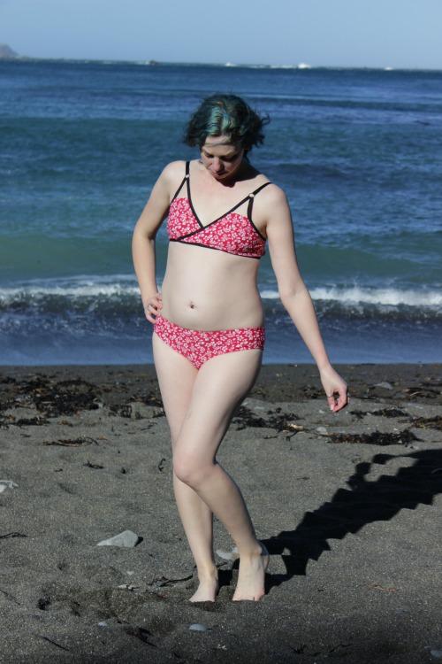 Red and white Soma bikini | Modern Vintage Cupcakes