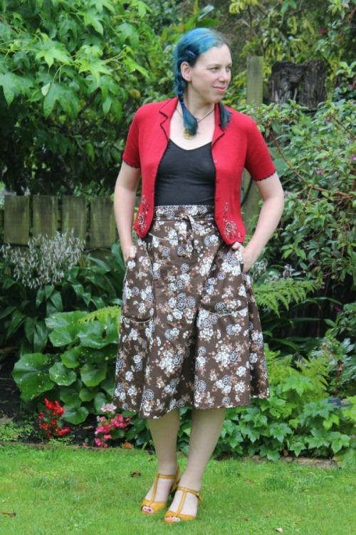 70's wrap skirt by Modern Vintage Cupcakes