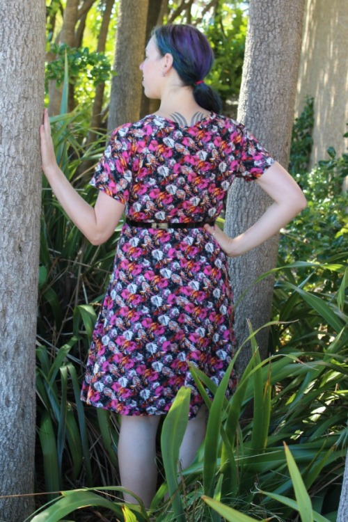 Hummingbirds and Clover dress | Modern Vintage Cupcakes