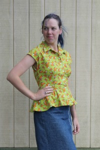 Forties Foxes blouse | Modern Vintage Cupcakes