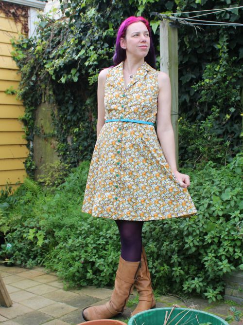 British Affair dress (Sew Over It Vintage Shirt Dress)