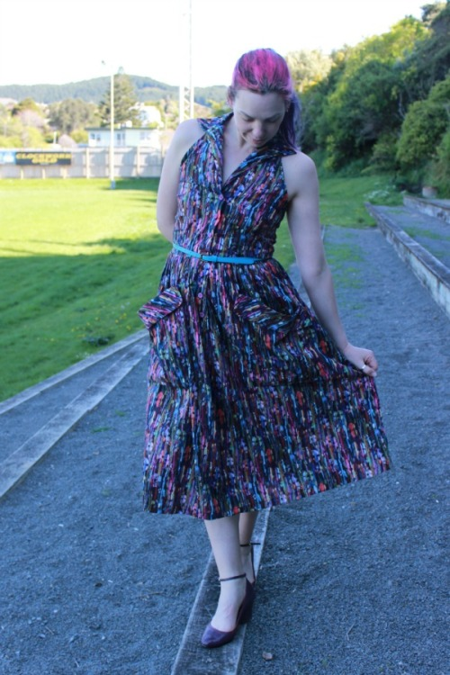 Summer Dreaming halter dress - Modern Vintage Cupcakes