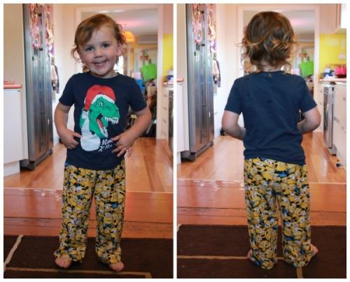 Minions pajama pants | Modern Vintage Cupcakes