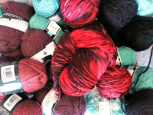 Part of the yarn stash - so much pretty!