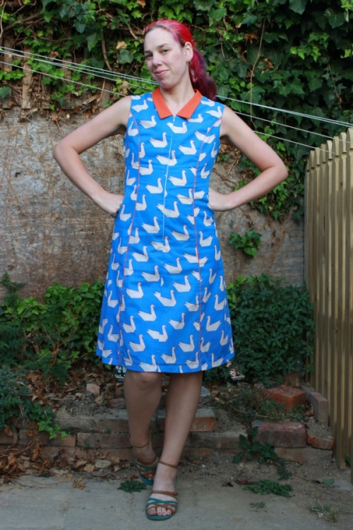 Symphony of Seventies Swans dress | Modern Vintage Cupcakes